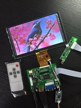 7 Inch 1024*600 TFT LCD Monitor Touch Screen + Driver Board HDMI VGA 2AV for Raspberry Pi 3 / PC Windows capacitive 7 1024 600 ips lcd touch monitor hdmi interface hdmi vga av display touch screen module for raspberry pi 3 banana
