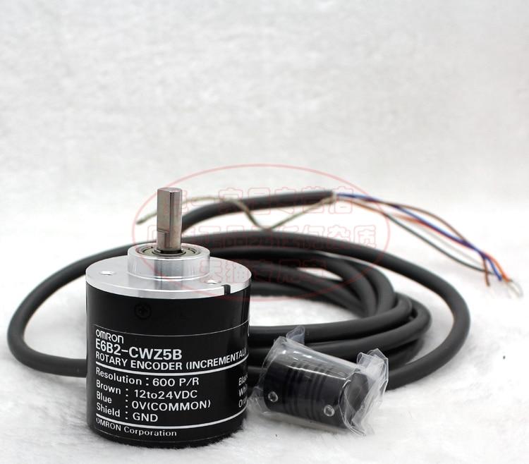 E6B2CWZ5B OMRON ABZ 3-phase Rotary Encoder E6B2-CWZ5B 2500 2000 1800 1024 1000 600 500 400 360 200 100 60 40 30 20P/R DC5V 1pcs e6b2 cwz3e 500p r 2m encoder for omron 500 line incremental rotary encoder mini abz 3 phase encoder dc5 12v