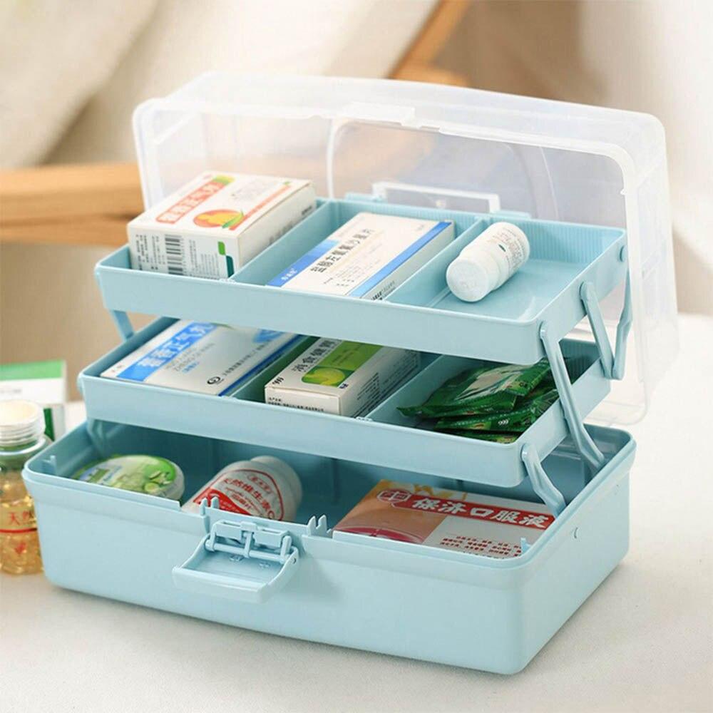 Portable3 слоя многофункциональный коробка для хранения большая емкость хранения медицина коробка пластиковая коробка для хранения инструмен...