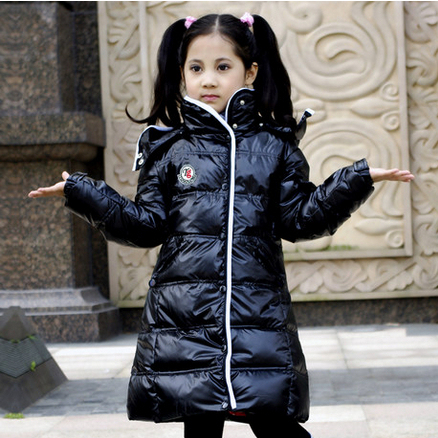 e2a543813 free shipping winter children s PU leather down jacket girl s shiny ...