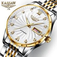 KASSAW Luxury Brand Genuine Watch Mens Mechanical Automatic Luminous Waterproof Relogio Masculino