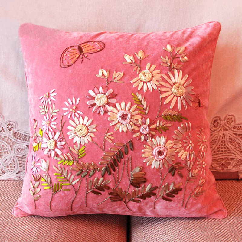 Aliexpress buy ribbon embroidery kit toolkit cushion