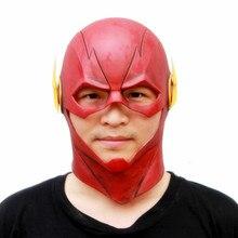 Latex Helmet Prop Costume Flash Cosplay-Mask Movie Superhero Full-Head Ball-Dress Adult