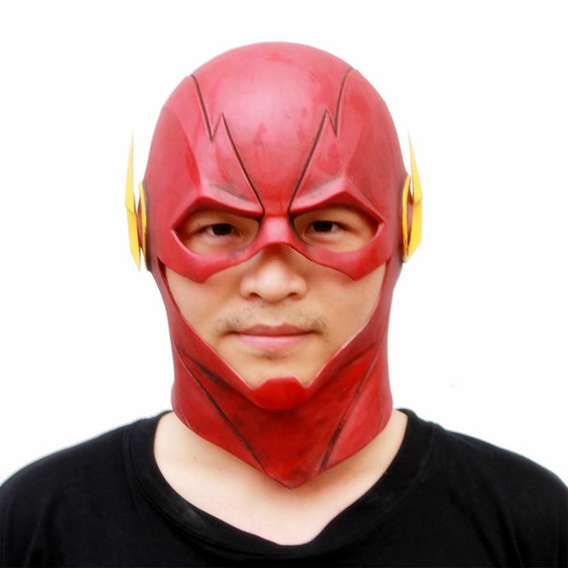 Gutherzig Erwachsene Die Flash Mann Cosplay Maske Helm Rot Vollen Kopf Latex Helm Prop Film Superhero Kostüm Phantasie Ball Kleid GroßE Vielfalt Kinderkostüme & Accessoires