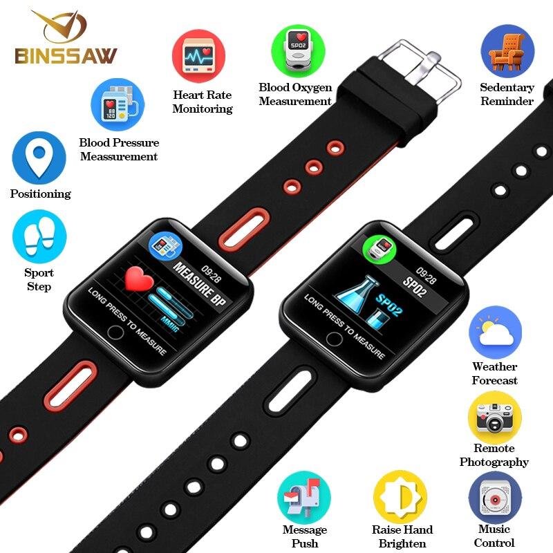 BINSSAW 2018 Nouveau Hommes Bluetooth Montre Smart Watch Femmes Sport Podomètre Horloge LED Grand écran couleur Tactile Écran Andoir IOS avec + BOÎTE