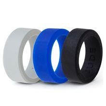 Силиконовое кольцо 9 мм размер 5 15 матовый черный обручальный