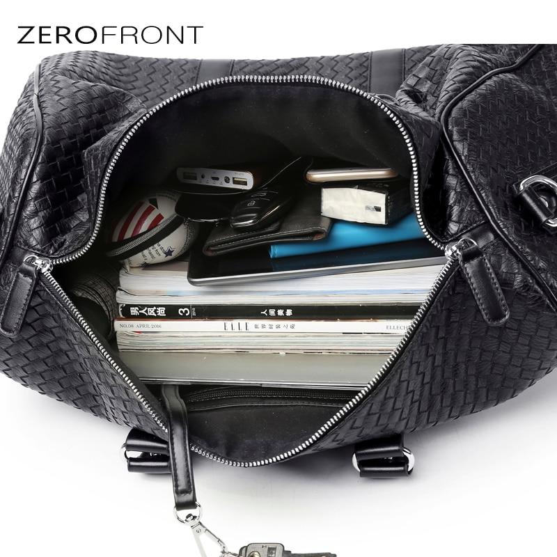 ZEROFRONT Ny Populär Design PU Läder Weekend Duffel Väskor - Väskor för bagage och resor - Foto 6