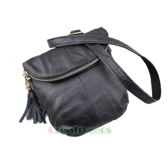 Novas mulheres de couro genuíno do Vintage ombro mensageiro Crossbody Flap Bag bolsa Casual bolsa