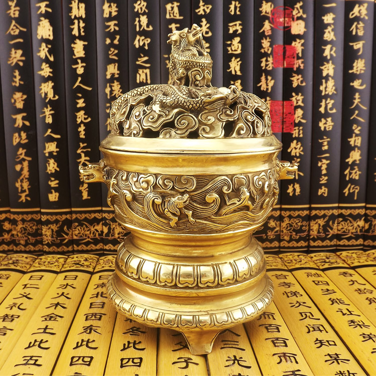 Permalink to Incense burner pure sandalwood furnace kowloon-10g plate aromatherapy incense burner interaural furnace three-legged copper