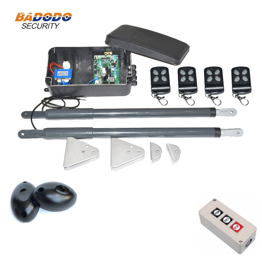 Image 3 - 200KG Automatic dual arms electric swing door gate Opener Operator Motor actuator closer swing gate opener for access control-in Access Control Kits from Security & Protection