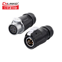 Cnlinko Waterproof Cable Connector 2 Pin 3 Pin 4 Pin 5 Pin Connector Led Strip Led