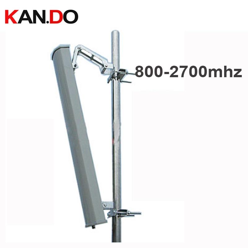 2G 3G 4G booster antenne 15dbi polarisation verticale 65 degrés 800-2700 Mhz panneau antenne Base station utiliser 2G 3G 4G antenne