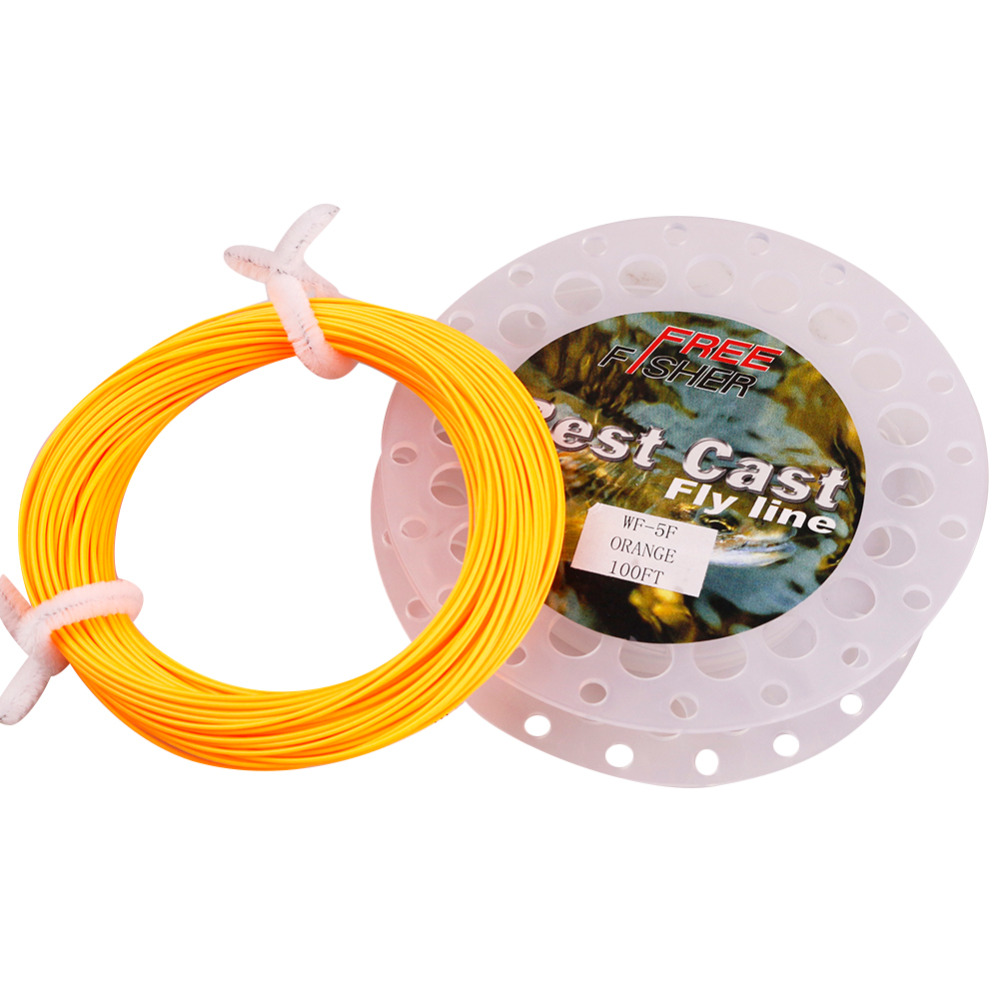 FreeFisher Orange 100 FT / 30M Main Lines for Fly Fishing Trout Salmon Weight Forward WF-5F WF-6F WF-7F WF-8F