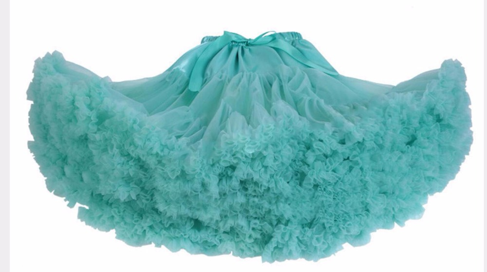 Petticoat lolita Woman Ruffle Tulle Puffy Underskirt Tutu Short Mini - Bruiloft accessoires - Foto 1