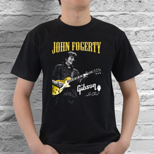 ecbf5a5e91b Brand Printed 100% Cotton T Shirt Graphic Crew Neck John Fogerty Ccr  American Musician Men s Black T-Shirt Size S To 3XL Short-S