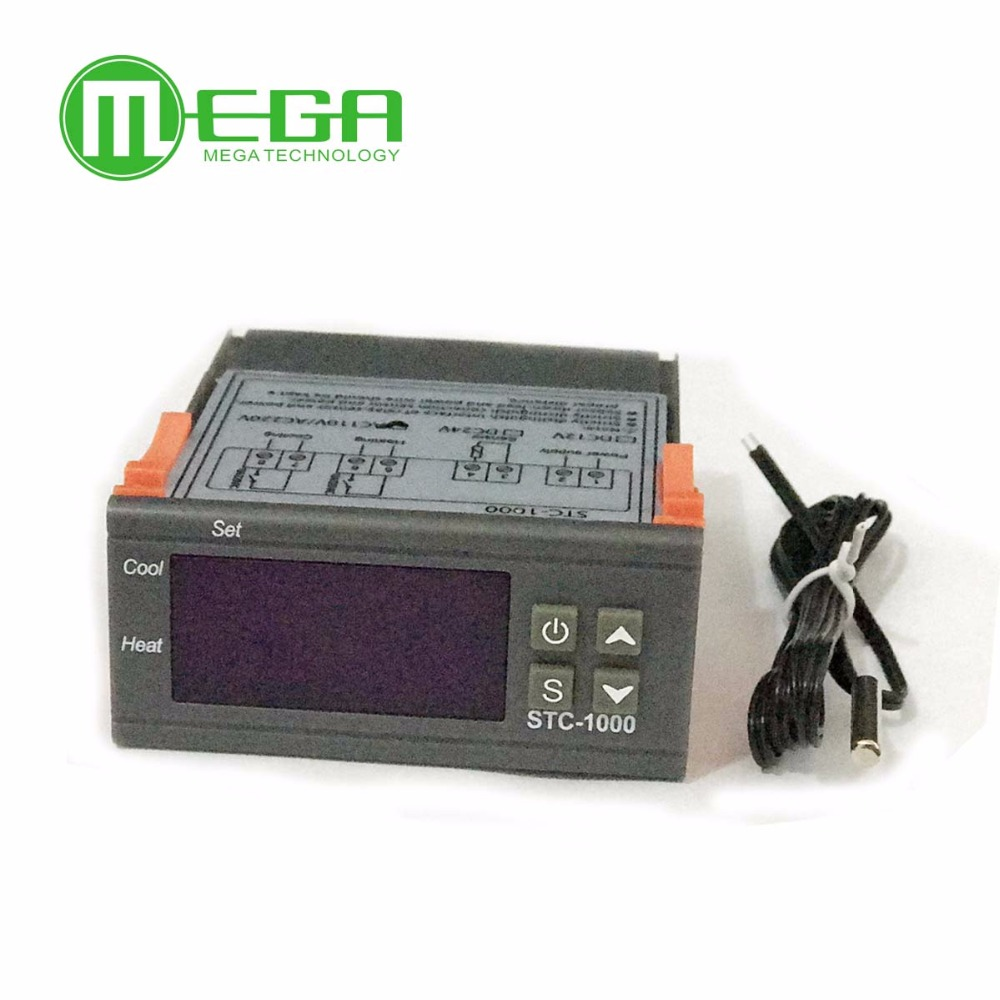 Buy Thermostat Lcd Display And Get Free Shipping On Stc1000 Digital Microcomputer Temperature Controller 220v W Sensor
