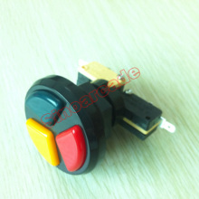 아케이드 게임기를위한 마이크로 스위치 트리플 컬러 트리플 플레이 버튼 3 개 아케이드 무료 배송