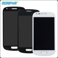 S3 mini lcd Para Samsung S3 Mini i8190 LCD Screen display Toque Digitador Assembléia completa substituição de peças Preto branco azul