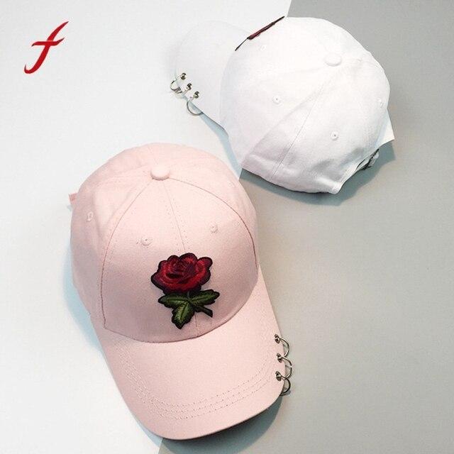 Feitong 2019 gorra de béisbol de las mujeres flores de moda Casual bordado  impresión mayúsculas hombres f85342597f2
