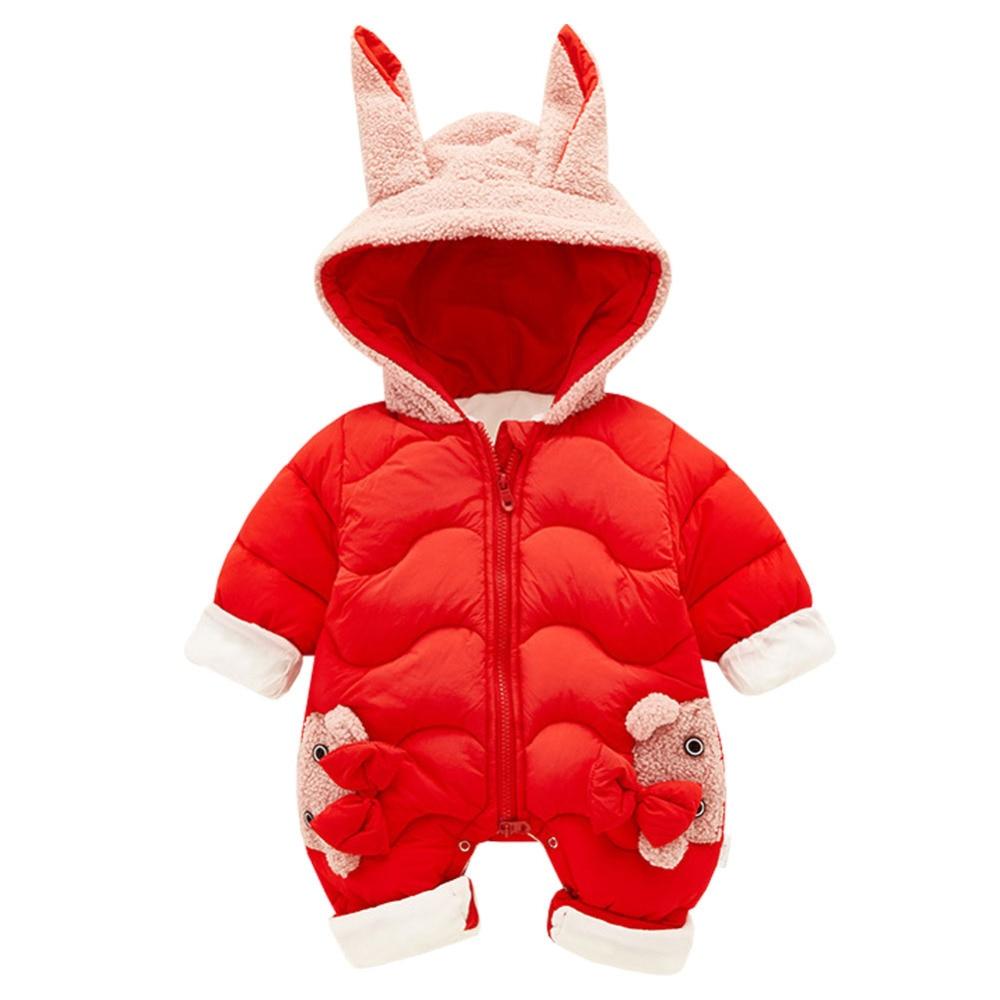 Cotton Baby Rompers Winter Thick Boys Costume Girls Warm Infant Snowsuit Kid Jumpsuit Children Outerwear Baby Wear 0 24m