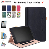 MDFUNDAS Luxury Stand PU Leather Funda Shell With Card Slot For Lenovo Tab 4 8 Plus