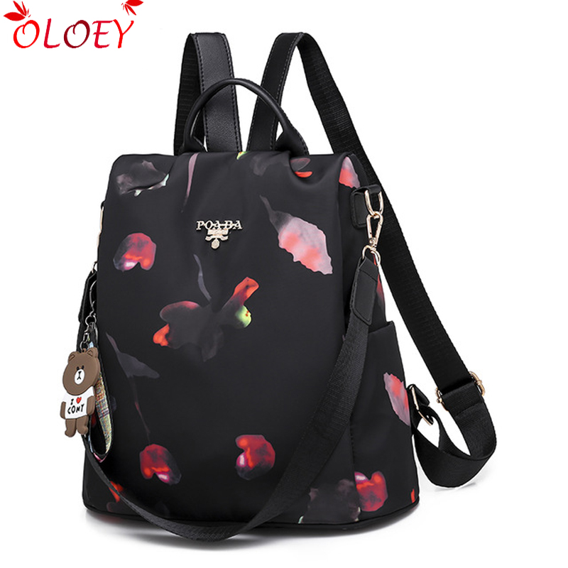 2018 new ladies backpack fashion trend Oxford cloth backpack Women/'s bags