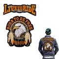Insignia motocicleta Harley Águila Bordado Volver Parches Para Coser Parches de Prendas de vestir Chaquetas Águila Parche Bordado