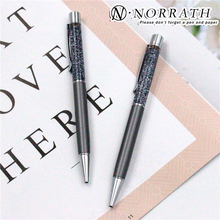 Norrath Luxury Flow Oil Ballpoint Pen Metal Ball Point Pens for Writing School Supplies monte mount roller ball pens pink metal ball pen caneta writing supplies