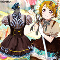 TITIVATE Japanese School Uniform Cosplay Costume Anime Girl France Women Maid Sailor Lolita Dress Brown Peformance Clubwear