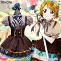 Uniforme Escolar Japonés Cosplay Anime Girl Francia TITIVATE Mujeres Maid Marinero Vestido de Lolita Marrón Peformance Clubwear