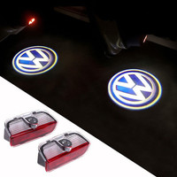 New 2pcs LED Welcome Car Light Door Logo Projector For VW Scirocco 2016 Hot