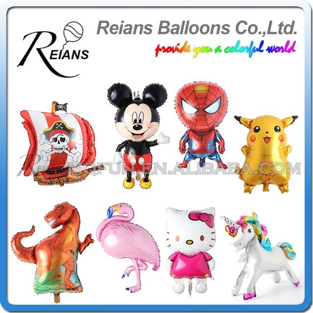 Giant Mickey Minnie Mouse Anime hello kitty dinosaur unicorn hero Cartoon Birthday foil balloon Party decoration Kid baloon Toys