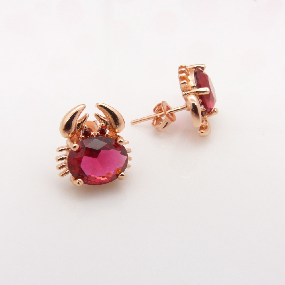 earrings animal wholesale baby free stud with lovely aliexpress filled design shipping buy get com w rose gold and jewelry childrens on