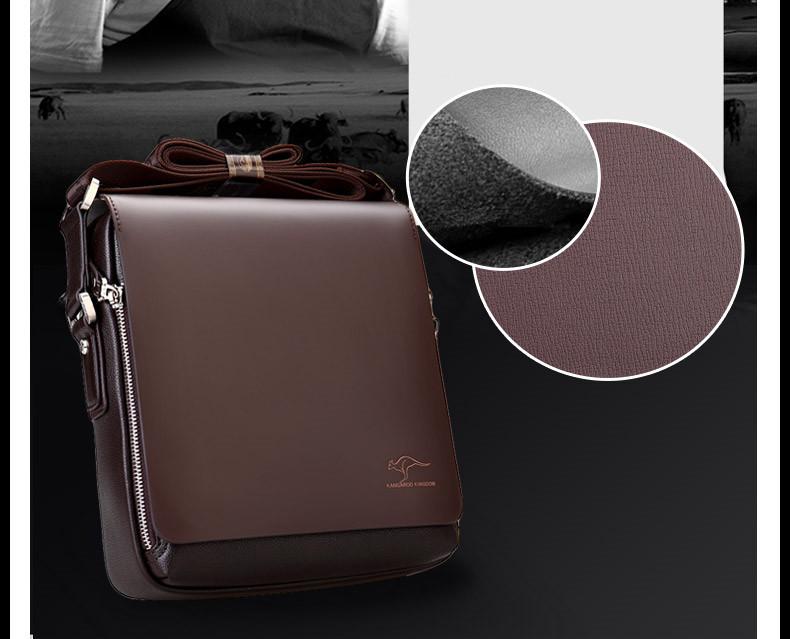New Arrived luxury Brand men's messenger bag Vintage leather shoulder bag Handsome crossbody bag handbags Free Shipping 2