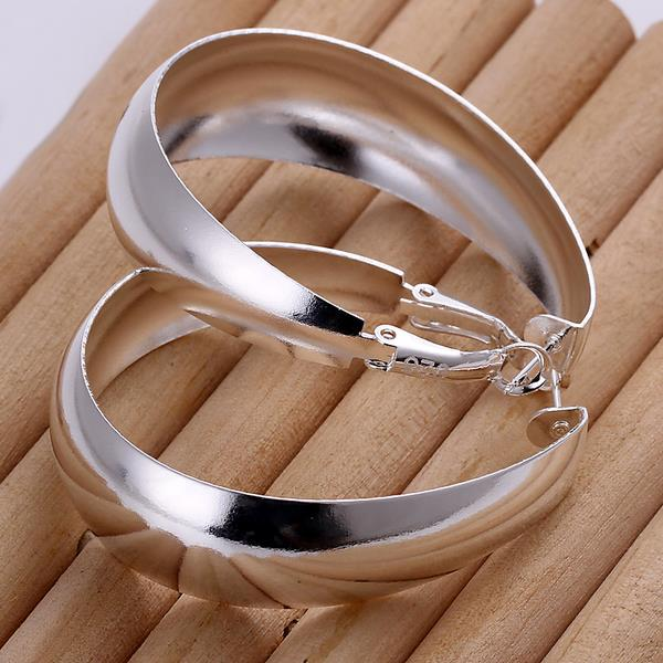 New Fashion Jewelry Silver Smooth Egg Shape Ear Ring Earrings Clip For Women Gift 88