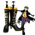 Anime Ao no Exorcist Amaimon Cosplay Zapatos de Fiesta Elegante Negro Boots Por Encargo