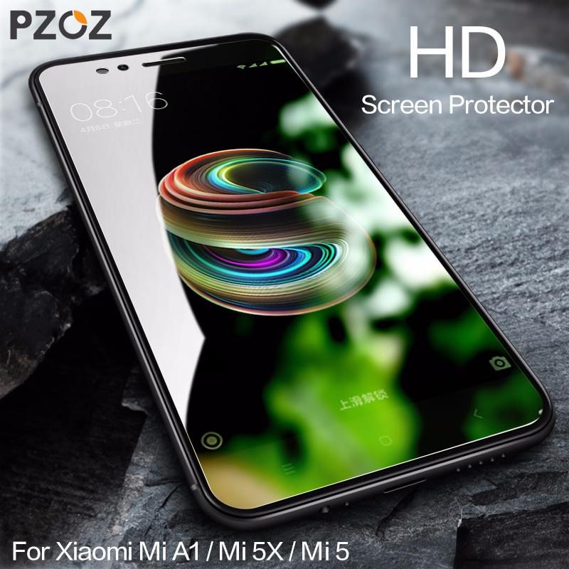 PZOZ Xiaomi Mi A1 5X härdat glas 3D Full Cover Skyddsfilm Xiami Mi5 Pro 9H HD Skärmskydd xiaomi mia1 mi a1 glas