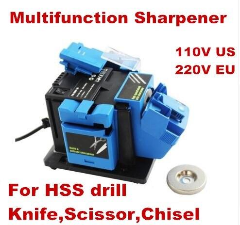 Apontador multifuncional ferramenta de moagem do agregado familiar apontador para faca broca torção hss broca tesoura cinzel moedor elétrico