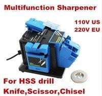 Multifunktions spitzer Haushalt Schleifen Werkzeug spitzer für messer Twist bohrer HSS bohrer scissor meißel elektrische grinder-in Schleifmaschinen aus Werkzeug bei