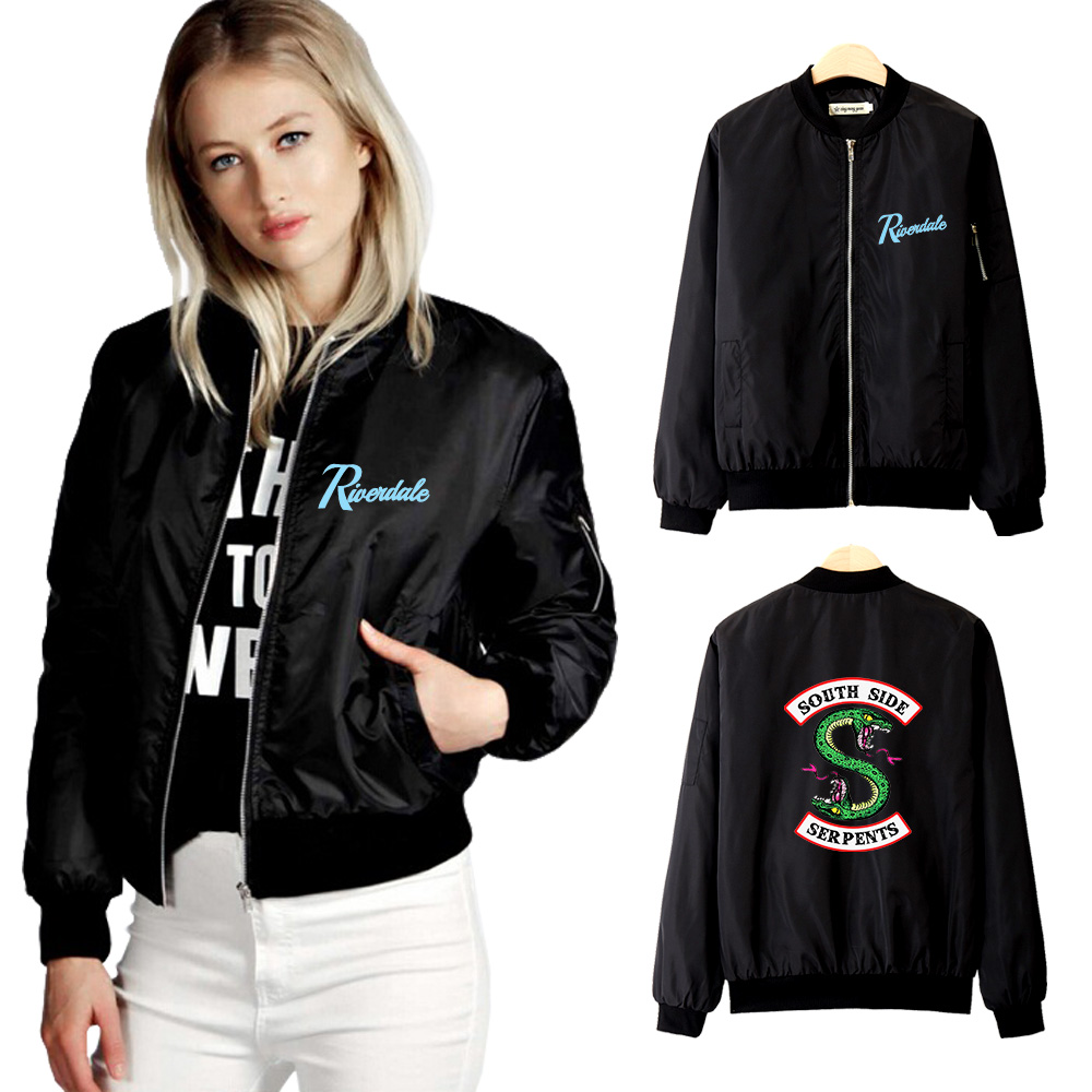 Frdun Tommy Riverdale Thin Jacket Women 2019 Fashion Hot Jacket Women Spring And Autumn New Style Casual Jacket Clothes S-4XL