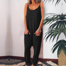 Kimuise sexy spaghetti strap women jumpsuits casual rompers female bodysuits 2019 summer overalls jumpsuit