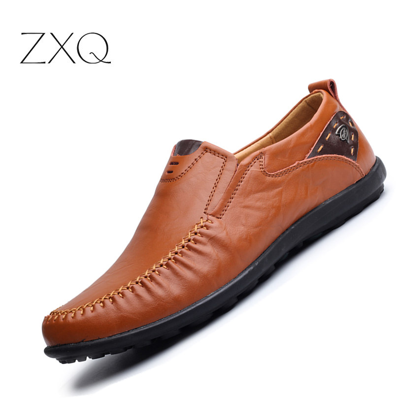 ZXQ 2017 New Summer Style Casual Men Cow Split Leather Loafers Shoes Slip On Comfortable Leisure Urban Men Driving Shoes cbjsho brand men shoes 2017 new genuine leather moccasins comfortable men loafers luxury men s flats men casual shoes