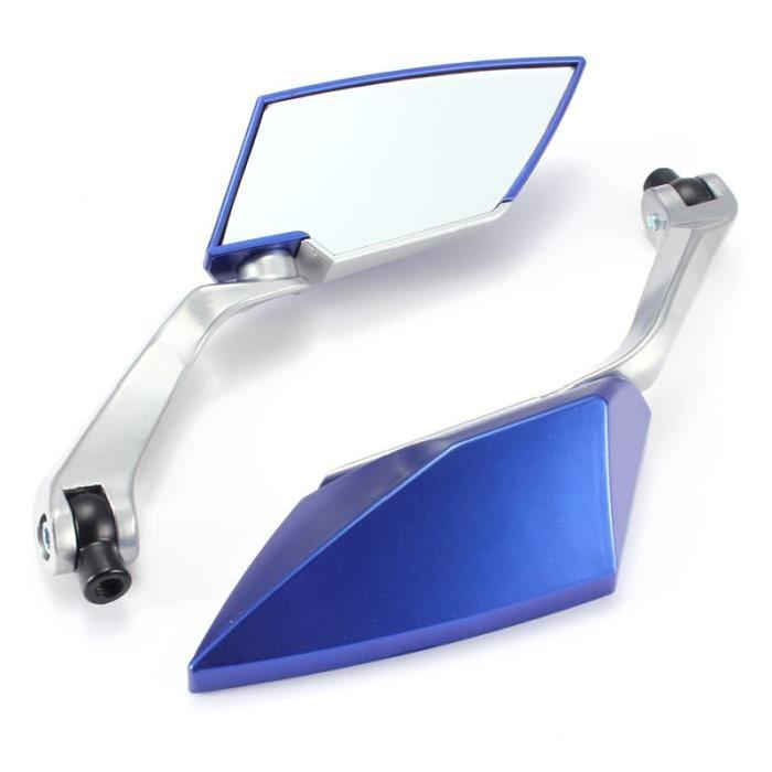 Good deal-Pair Rear View Mirror For Scooter Motorcycle Mirror Universal Right Left Backup Blue,bicycle accessories