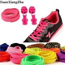 Shoelaces Sneaker Stretching-Lock Locking-Shoe Elastic 1pair Unisex Children