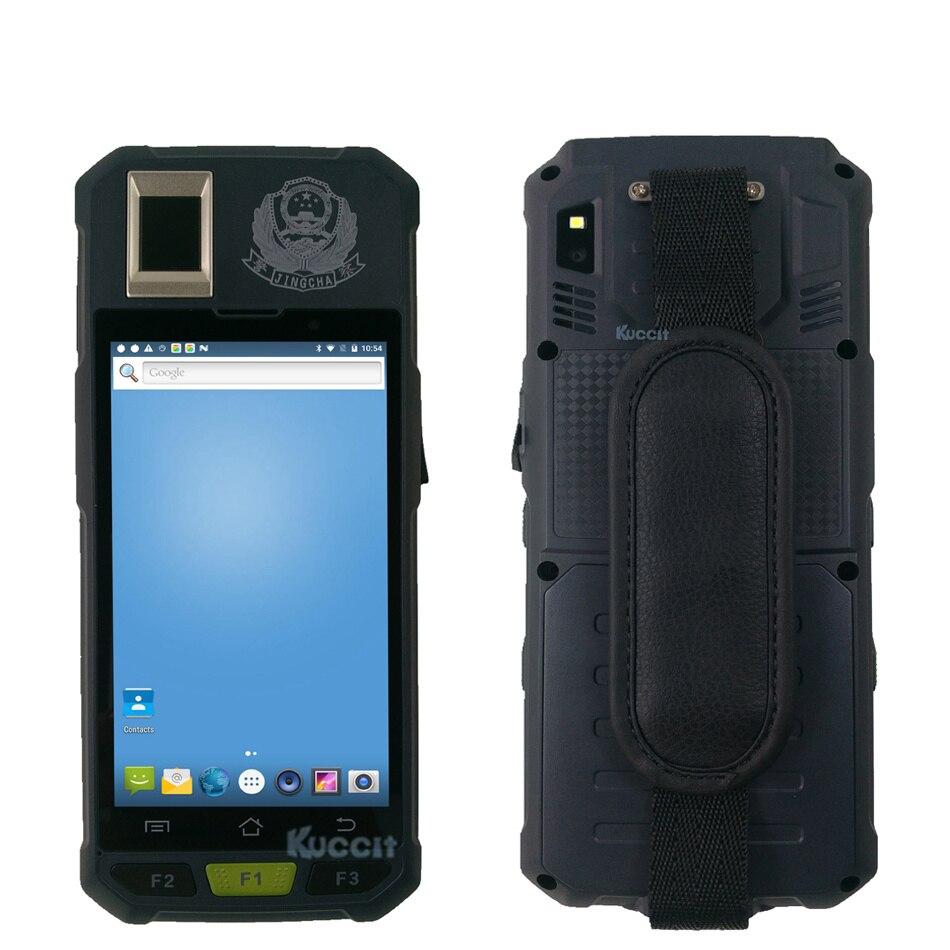Original KB50 Handheld Mobile Data Terminal LF UHF RFID Fingerprint Reader Smartphone Android 7.0 2D Barcode Scanner 4G GPS NFC