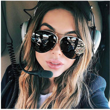 Big Brand design Aviation sunglasses Men  fashion shades mirror female Sun Glasses for women eyewear Kim Kardashian oculo