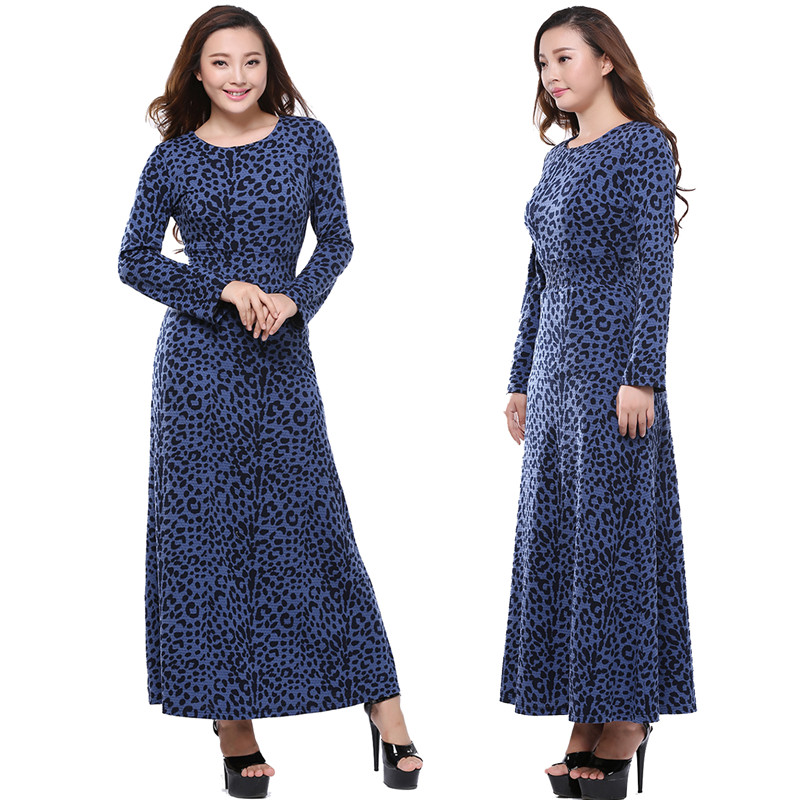 Online Get Cheap Blue Leopard Print Dress -Aliexpress.com ...