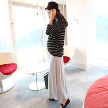 Elastic Waist Belly Maternity Long Skirts Bottoms Clothes for Pregnant Women Autumn Charming Knitted Pregnancy Skirts Pregnant elastic waist belly maternity long skirts bottoms clothes for pregnant women autumn charming knitted pregnancy skirts pregnant