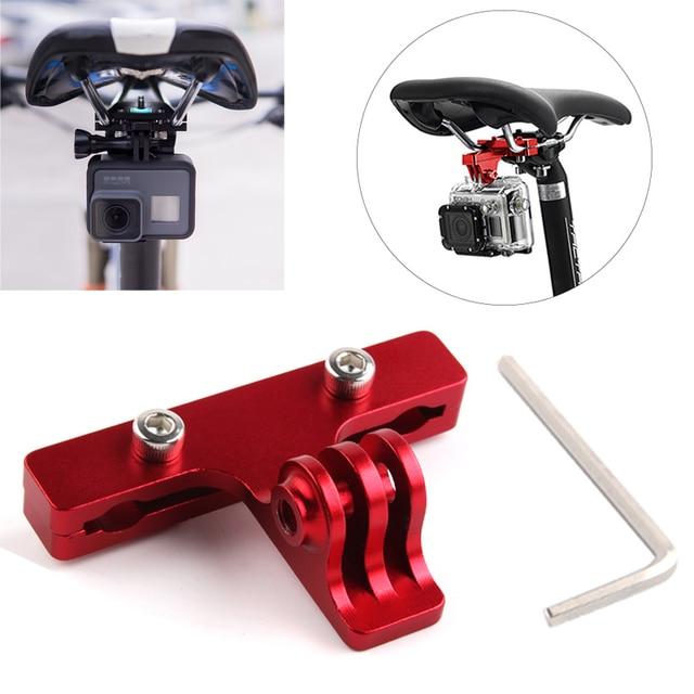 Aluminum Bike Bicycle Saddle Bike Seat Mount Tripod Holder Bracket Adapter Clamp for Gopro Hero 7 SJCAM Yi 4k mijia camera