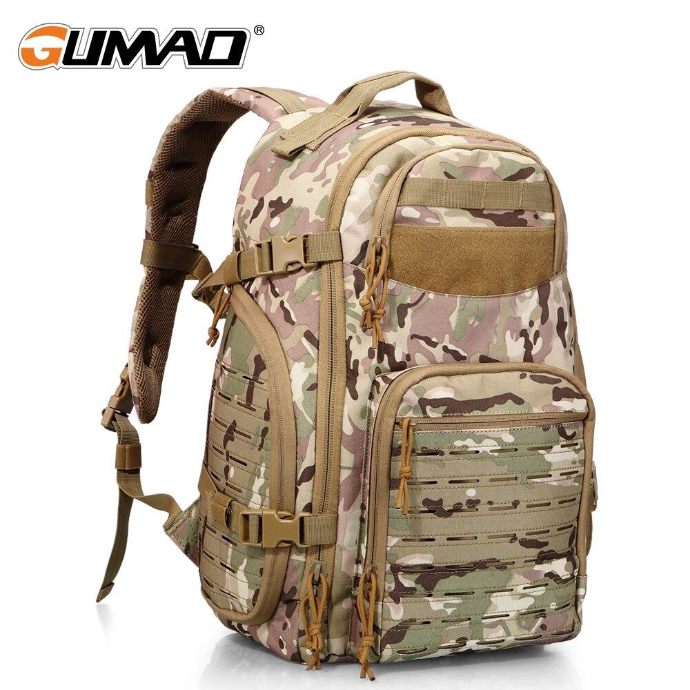 Plein air 1000D Laser découpe Molle Camo tactique sac à dos militaire sac à dos Trekking armée chasse Camping randonnée voyage